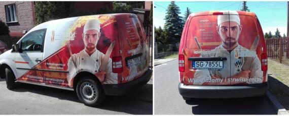Reklama na samochodzie Śląsk