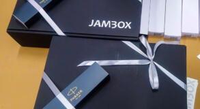 jambox naklejki srebrne
