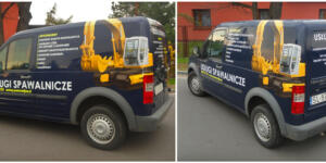usługi spawalnicze - oklejenie samochodu