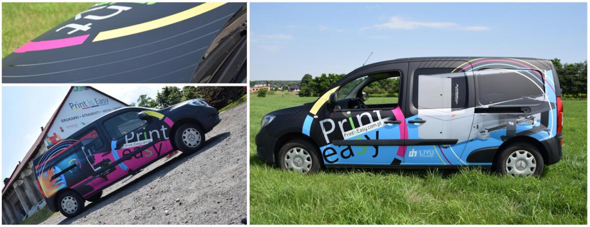 oklejenie auta dostawczego Print Is Easy