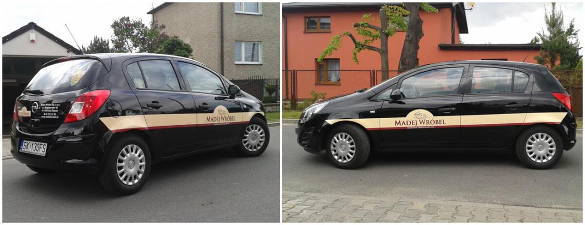 oklejenie samochodu dla firmy madej&wrobel z Rudy Śląskiej