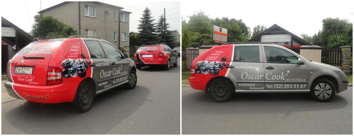 Skoda Octavia - oklejenie reklamowe samochodu