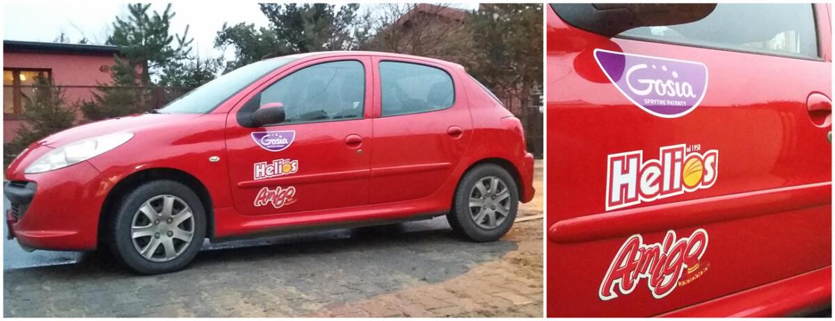 logotypy na samochodzie