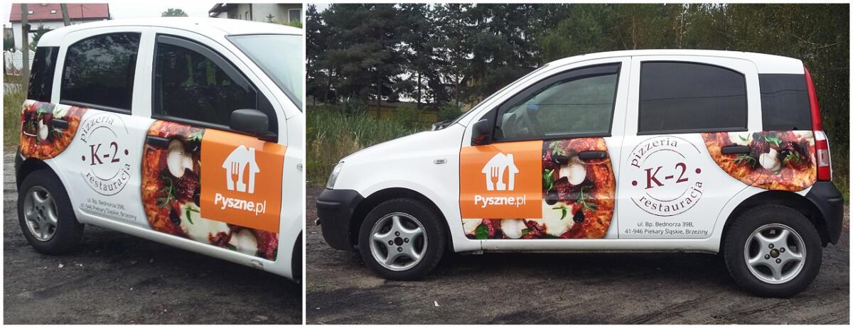 reklama na samochodzie pyszne.pl